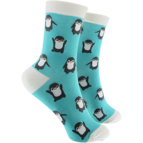 Cosey Sottili Calze pinguini TURCHESE 1 paia cotone traspirante morbido 33-40