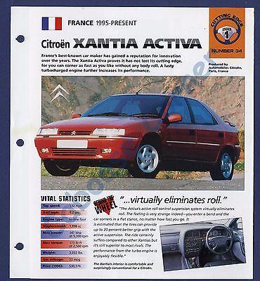 CITROEN Xantia v6 dati /& attrezzature MJ 1999-prospetto brochure 11.1998