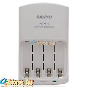 Sanyo Eneloop Charger 4 Nimh Aa Aaa Rechargeable Battery