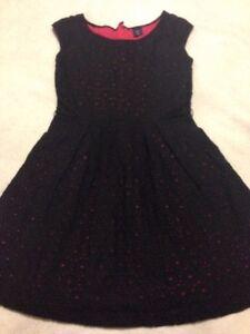 Gap-Kids-L-10-Girls-Black-Embroidered-Dress