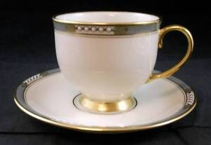 Lenox-McKINLEY-Footed-Cup-amp-Saucer-Presidential-Line-GREAT-CONDITION