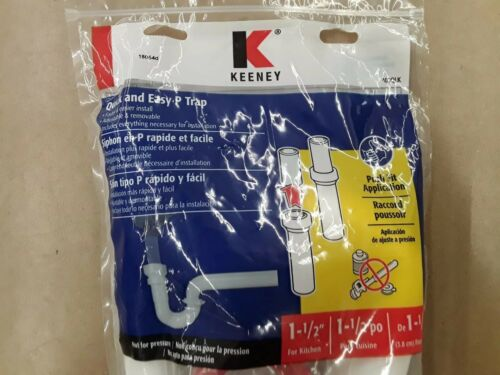 """SHARK BITE FOR YOUR SINK! KEENEY QUICK /& EASY P TRAP 1-1//2/"""" 400QLK"""