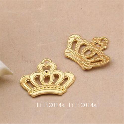30pc Tibetan Gold Imperial crown Charm Beads Pendant wholesale   PL1023