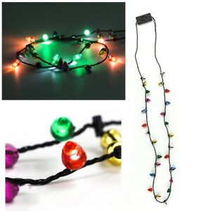 Light Up Christmas Necklace.Details About Led Jingle Bell Light Up Christmas Necklace Party Bulb Adults Or Kids Xmas Gift