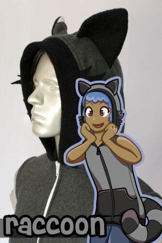KIDS Raccoon Hoodie Vest Kigurumi Cosplay New Costume