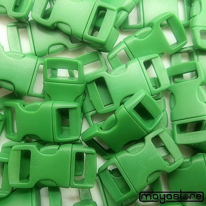 10mm Boucles Vert Courbé Boucle Boucle Bracelet Boucle Courbé Cliquez Serrure Neuf e81d4a