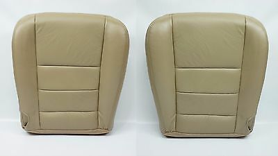 2002 2003 2004 2005 F250 Lariat Driver & Passenger Bottom Leather Seat Cover Tan