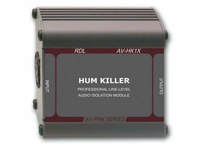 "AV-HK1X  RDL ""HUM KILLER"" AUDIO ISOLATION TRANSFORMER - XLR INPUT AND OUTPUT"