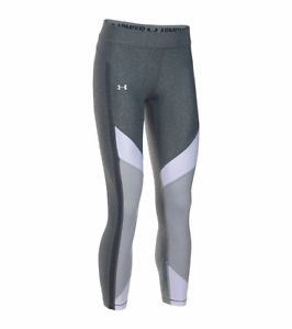 Under-Armour-Women-039-s-HeatGear-Color-Blocked-Ankle-Crop-Tights-Heather-White