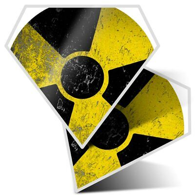 Warning Nuclear Chernobyl Cool Gift #895 Radioactive 2 x Vinyl Stickers 7.5cm