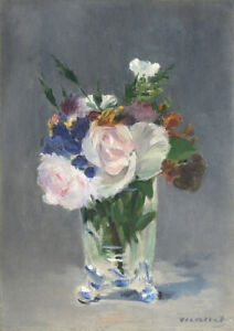 Edouard Manet: Flowers in a Crystal Vase. Fine Art Print/Poster