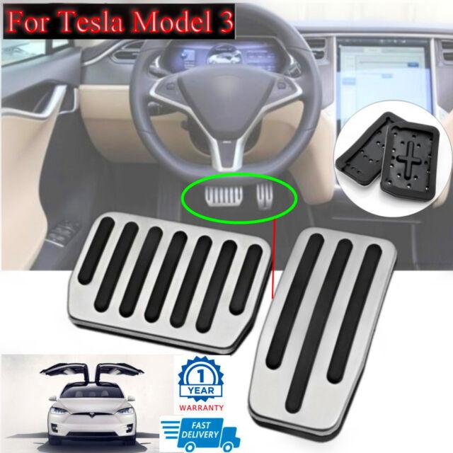 2x Anti-Skid Car Accelerator Pedal + Brake Pads For Tesla ...