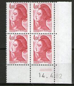 TIMBRE-N-2244-NEUF-XX-LUXE-COIN-DATE-DU-14-4-82-LIBERTE-DE-GANDON-2
