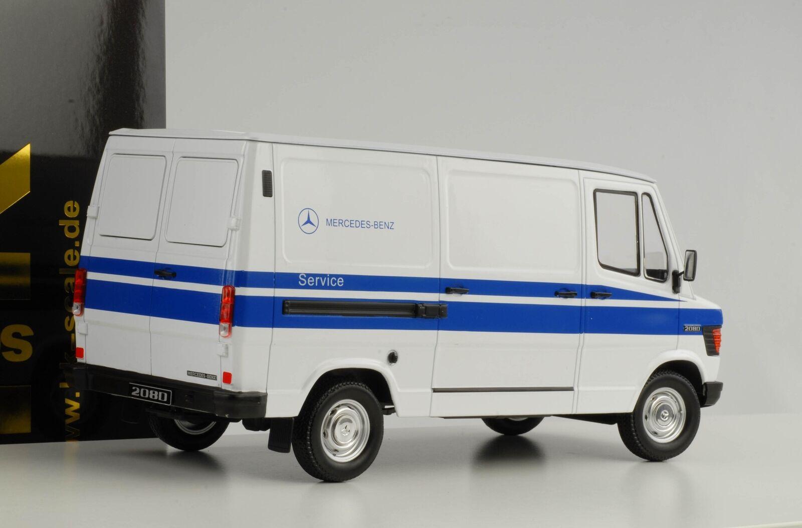 Mercedes-Benz 208 D Bus Caja 1988 Service biancao 1 18 Kk Diecast Nuevo