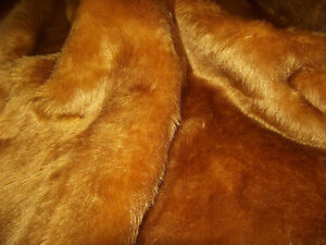 SHORT-PLUSH-Care-Bear-Faux-Fur-Fabric-HONEY-BROWN