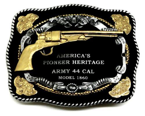 Pistolet Boucle de ceinture armée 44 Cal revolver American Western THEME Authentic White Wolf