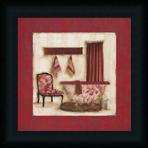 Ruby Romance II by Olson Red Bathroom Decor Framed Art Print Wall ...