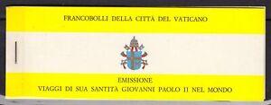 1982-VATICANO-VIAGGI-PAPA-LIBRETTO-USATO-FDC-LOTTO-LBF2993