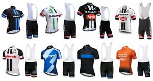 NEW-Mens-Giant-Cycling-Team-Kit-Short-Sleeve-Bike-Jersey-Padded-Bib-Shorts-Set