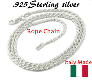 1-2MM-Solid-925-Sterling-Silver-Italian-DIAMOND-CUT-ROPE-CHAIN-Necklace-Italy