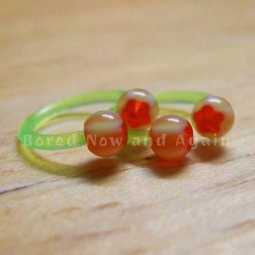 Neon Green UV 18g Hypoallergenic Acrylic 8mm Horseshoe Ring