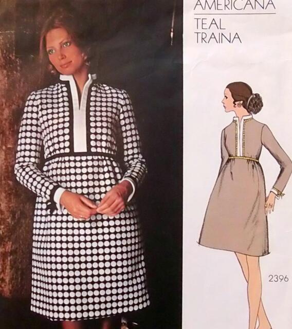 Vintage 2396 VOGUE AMERICANA Dress TEAL TRAINA Pattern Sz 14 UNCUT