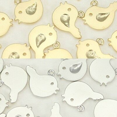 Bird Pendants Charms Metal Beads for earrings necklace jewelry making supply #69