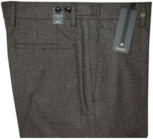 395-NEW-ZANELLA-HOUNDSTOOTH-FALL-WINTER-BRUSHED-COTTON-FLANNEL-DRESS-PANTS-34