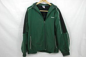 Reebok-Classic-Men-039-s-Dark-Green-Athletic-Jacket-Size-Medium