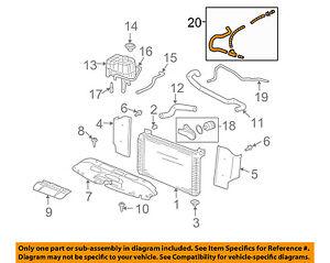 gm oem radiator coolant-recovery tank bottle overflow hose 15792820   ebay  ebay