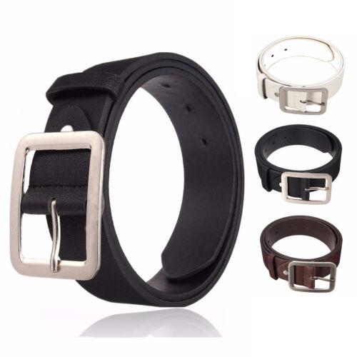 Men/'s Women/'s Casual Leather Dress Belt Pin Belts Waistband Buckle Waist Strap