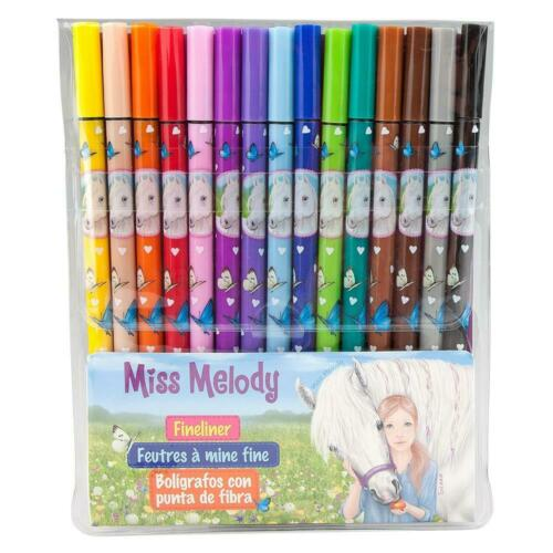 Depesche 8807 Fineliner Miss Melody Set mit 15 Farben Fineliner Pferde NEU