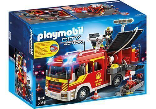 Playmobil 5363 Loschgruppenfahrzeug mit Licht und Sound Spielzeug Und Mit 4856RC  | Haltbarkeit