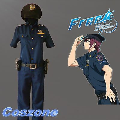 Free! Iwatobi Swim Club Matsuoka Rin Yamazaki ED Police Uniforms Cosplay Costume