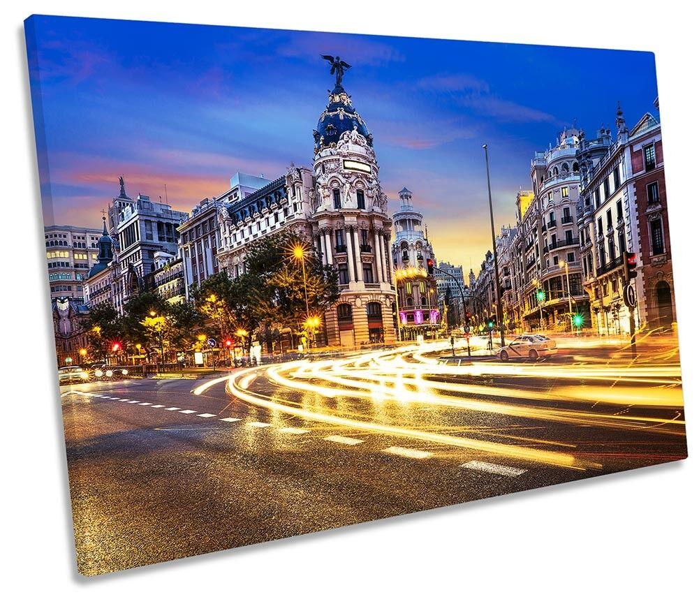 Madrid Spagna Cityscape Foto Tela Singola Wall Art Print