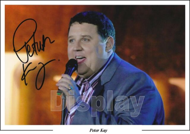 Peter Kay Signed Photo First Generation Pre-Print Size A4 Comedien