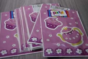 Pink-Tea-Party-Loot-Party-Bags-12-X-8-Packs-96-Bags-In-Total-Job-Lot