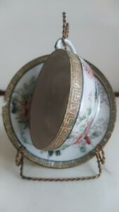 Beautiful-Antique-Nippon-Porcelain-Cup-and-Saucer