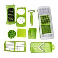 12pc Nicer Slicer Plus Vegetable Fruit Peeler Dicer Cutter Chopper Container Kit