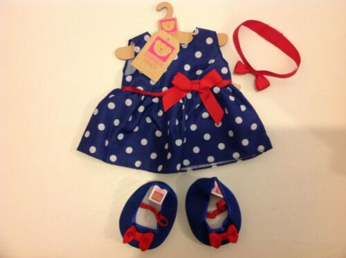 New Design A Bear Polka Party Outfit Set Of Clothes For Chad Valley Designabear.