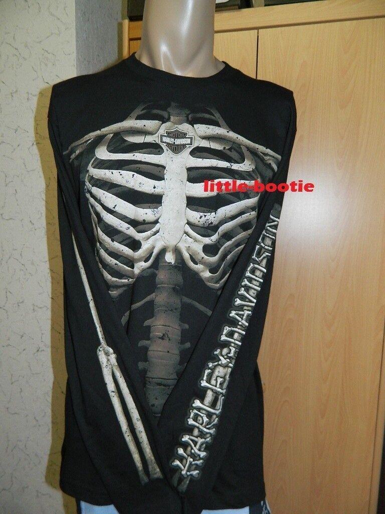 HARLEY-DAVIDSON Shirt Lunga-Shirt Uomo Manica Lunga-Shirt Shirt Nera Taglia XL Nuovo RPT Bones-sale 27d677