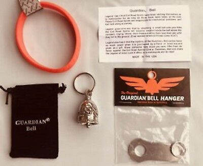 NEVER RIDE FASTER GUARDIAN BELL COMPLETE MOTORCYCLE KIT W// HANGER /& WRISTBAND