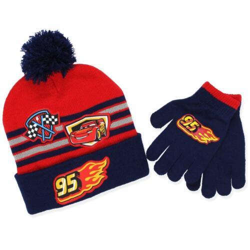 Disney Cars Car Lightning McQueen 95 Boys Beanie Hat and Gloves Set Age 2-5