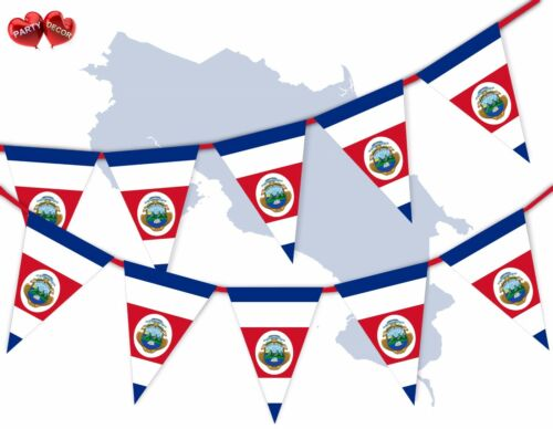 Costa Rica Full drapeau patriotique sur le Thème Bunting Banner 15 Triangle drapeaux