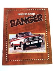 1983 Ford Ranger Pickup Truck 22-page Original Sales Brochure Catalog - XLT XLS