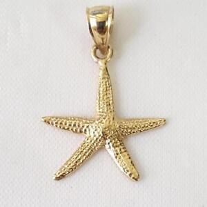 14k Yellow Gold STARFISH Pendant Charm Made in USA eBay