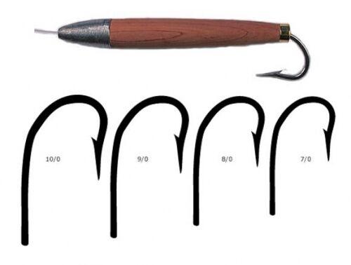 100 Mustad 3412CD Diuominiione 70 Duratin Cedar Plug Hooks 2X Strong Needle Eye Hook