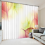 3D Red leaves 5 Blockout Photo Curtain Printing Curtains Drapes Fabric Window AU