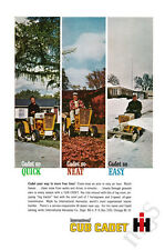 1963 International Harvester Club Cadet print ad riding mower, mulch, plow snow