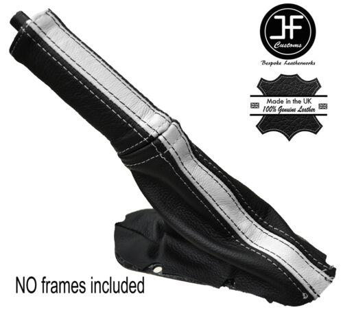 Noir /& blanc à rayures en cuir e brake boot /& poignée capot fits dodge viper 03-06